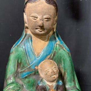 Asian Ceramic Buddha Figural into Lamp