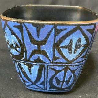 Signed Vintage Ceramic Vessel Vase