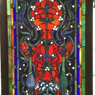 Framed Stained Glass Art Panel