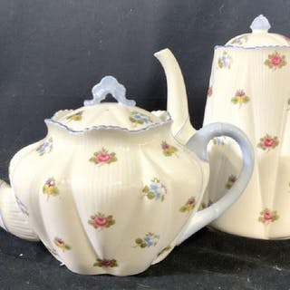 Shelley England Porcelain Coffee Pot and Tea Pot