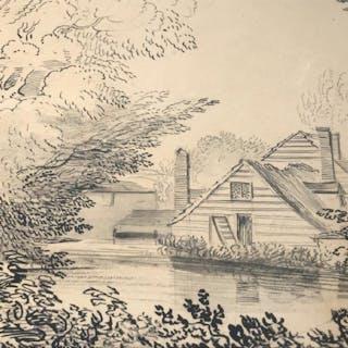 J.C. NATTES (1765-1822) Pen & Ink On Paper,c. 1816