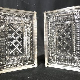 Pair WATERFORD Cut Crystal Bookends