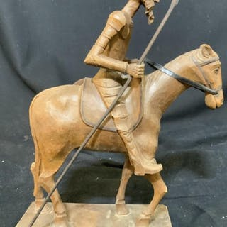 Carved Wood Don Quixote Figural, Spain