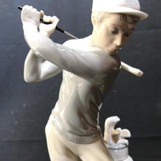LLADRO Golfer Man Figurine