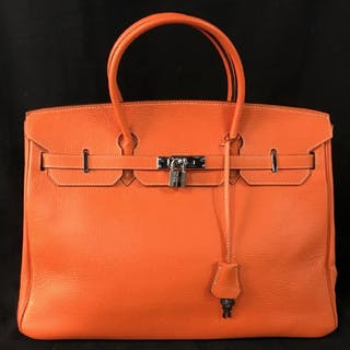 Hermès Bag In Orange Togo Leather