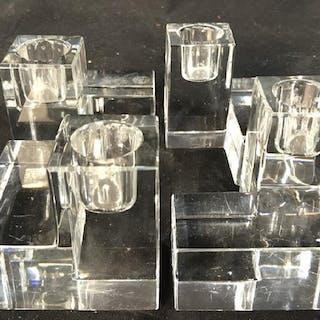 Set 4 BACCARAT Cut Crystal Candlesticks