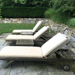 Set 5 BARLOW TYRIE Teak Lounge Chairs & Tables