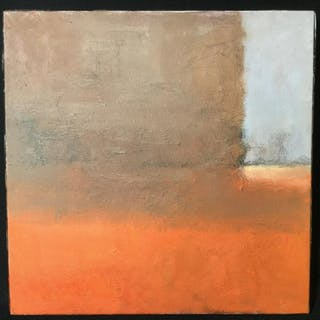 Verso Signed Abstract Oil Painting On Canvas