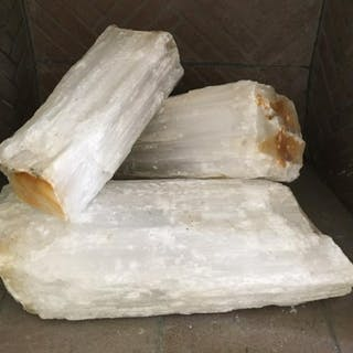 Lot 3 White Toned Fireplace Crystal Logs