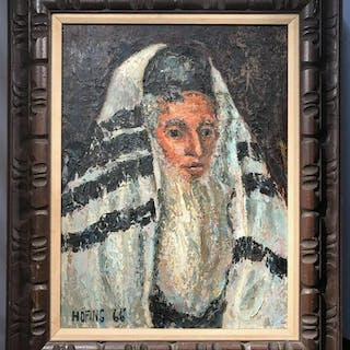 Signed HOFING Oil Painting of Man's Portrait