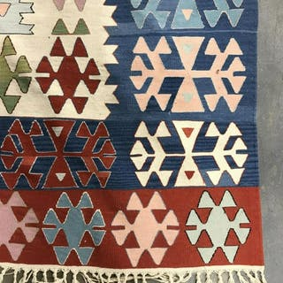Handmade Multi Toned Tribal Style Wool Rug