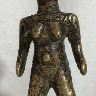 African Art Toma Tribe Bronze Figural Sculpture