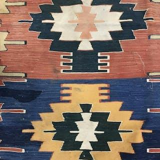 Antique Handmade Native American Style Wool Rug