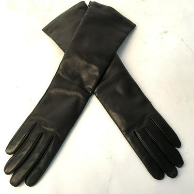 GIORGIO SERMONETA Leather Elbow Gloves