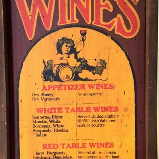 VINTAGE HANDCRAFTED Crate Board Wine Menu