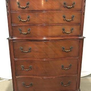Vintage Mahogany Toned Wooden Dresser