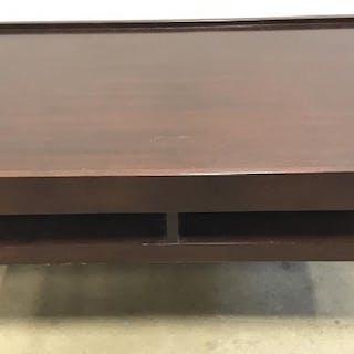 Mahogany Toned Wooden Coffee Table