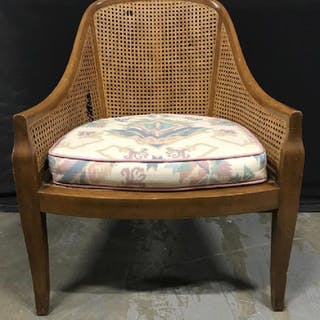 BAKER FURNITURE Caned Curved Back Chair