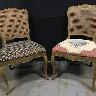 Pair Cane Back Side Chairs