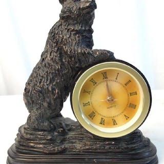 Bear Figural Mantle Clock