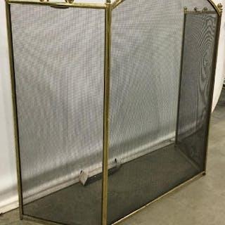 Brass Tri Fold Fireplace Screen