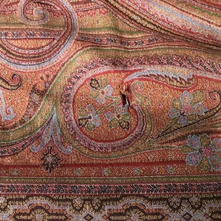 Vintage Moroccan Style Tapestry / Paisley Shawl