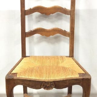 Carved Wooden Ladder Back Side Chair