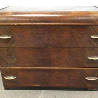 Vintage Wooden Dresser W Vanity Mirror