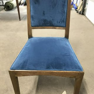 Country Willow Cushioned Chair W Wood Frame