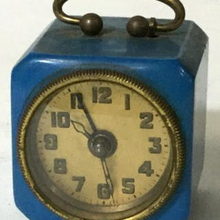 Vintage German Miniature Windup Bedside Clock