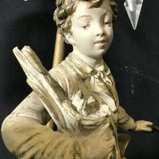 Lot 2 Male & Female Figural Lamp