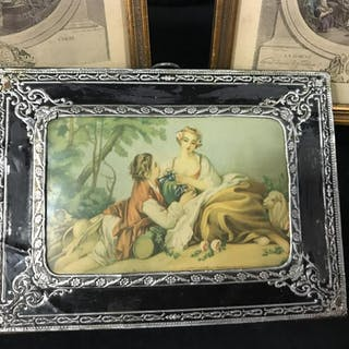 Lot 6 Vintage Framed French Art