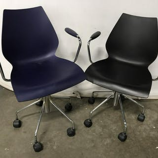 Pair Vico Magistretti for Kartell Office Chairs