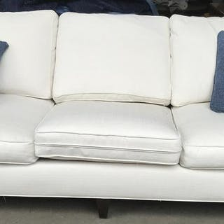 Country Willow Upholstered Sofa W Throw Pillows