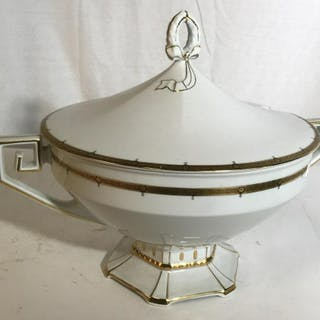 Czechoslovakia marked Porcelain Lidded Tureen