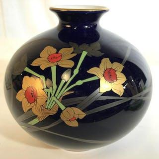 Asian Painted Porcelain Enamel Floral Vase