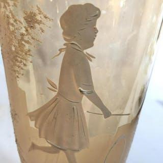 Blush Toned Cameo Glass Vase