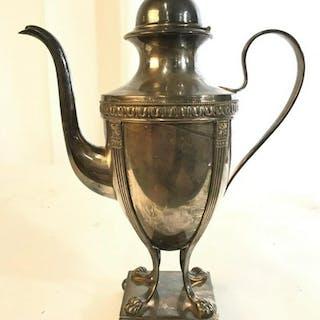 Silver Pl Lions Paw Tea Pot