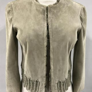 ARMANI Luxury Designer Leather Suede Jacket
