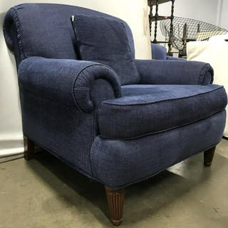 DREXEL HERITAGE Blue Toned Armchair