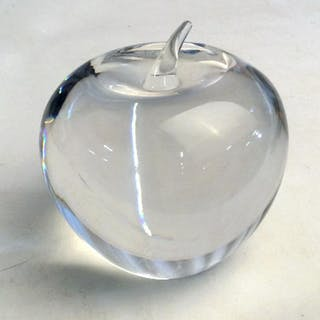 TIFFANY Glass Apple Paperweight