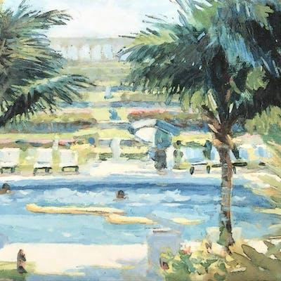 Signed John Paul Print, Bahama Views