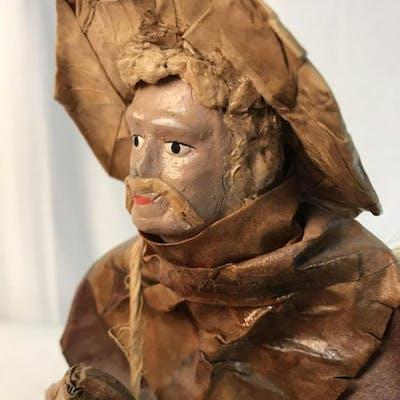 Mixed Media Folk Art Male Figural
