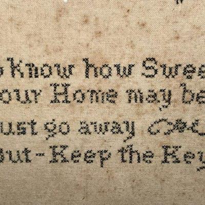 Vintage Motto Sampler, Keep the Key