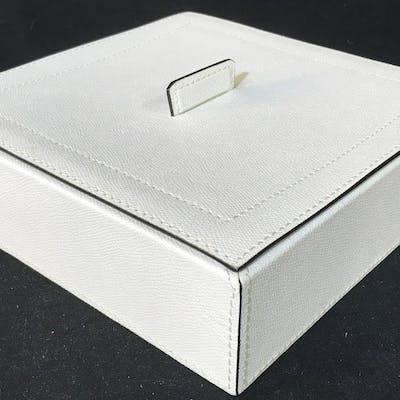 HOME INTERIORS White Leather Keepsake Box, Italy