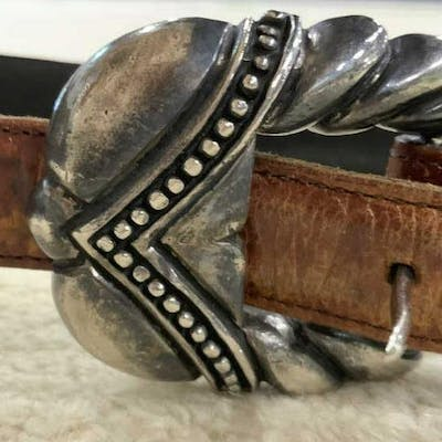 VICENZA Calfskin Leather Belt, Italy