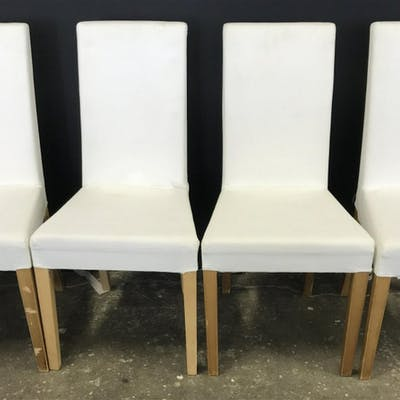 Lot 4 White Toned Side Chairs