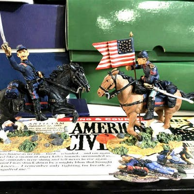 Large Hand Painted Toy Soldier Collection Boxed