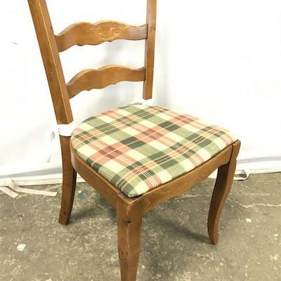 Vintage Wooden Ladder Back Side Chair