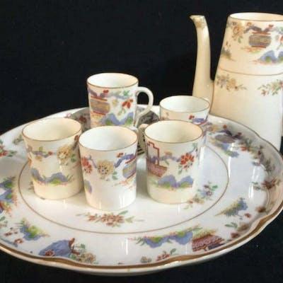 Antique Royal Worcester Porcelain Desert Set